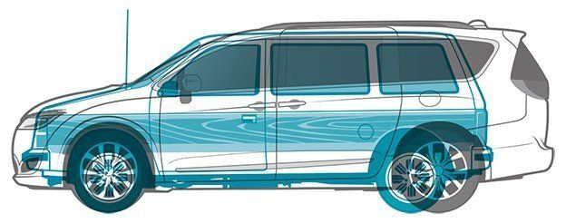 The Pacifica Dwarfs Original Minivan But It S Also Longer Than Long Wheelbase Version Of Full Size 1984 Dodge Ram Van