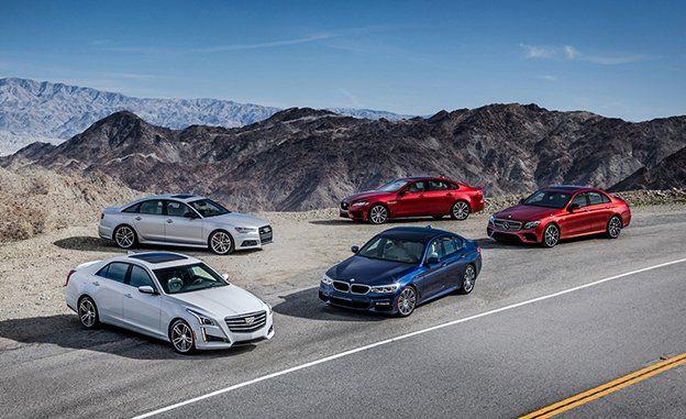 Audi A6 Vs Bmw 540i Cadillac Cts V Sport Jaguar Xf S Mercedes