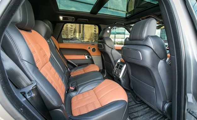 2017 Land Rover Range Sport Supercharged Svr Interior Review Car And Driver
