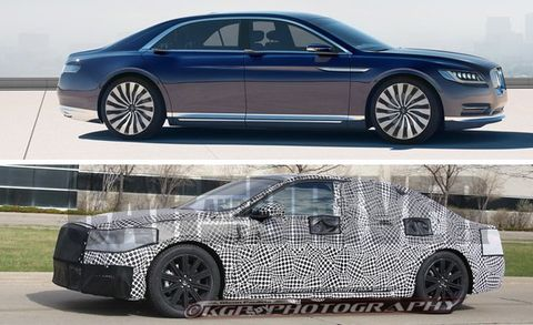 Top Lincoln Continental Concept Bottom 2017 Spy Photo
