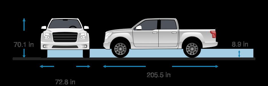 Nissan frontier height