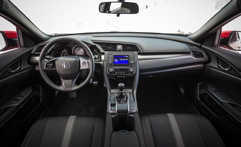 2018 honda civic interior review car and driver