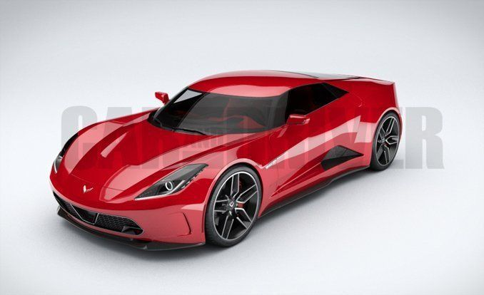 Mid engine corvette concept