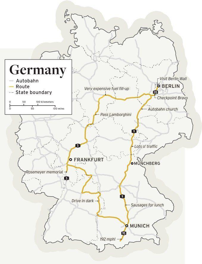 Deutschland DeRestricted We Storm The Autobahn In The Mercedes - Germany map autobahn