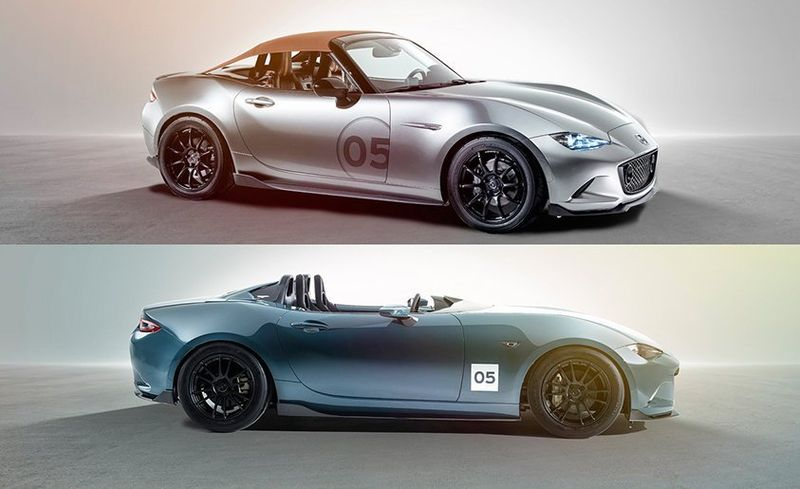 Miatas Gone Wild Mazda Shows Off A Nice Pair Feature Car And