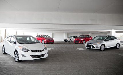 11 Chevrolet Cruze and 12 Ford Focus vs Jetta Elantra and