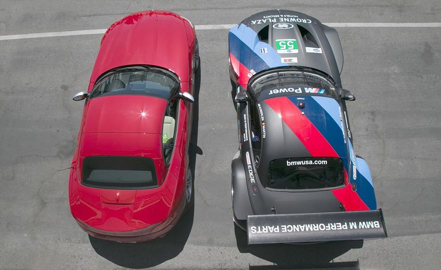 BMW Z4 GTE race car and 2014 Z4 sDrive35is at Mazda Raceway Laguna Seca - Slide 5