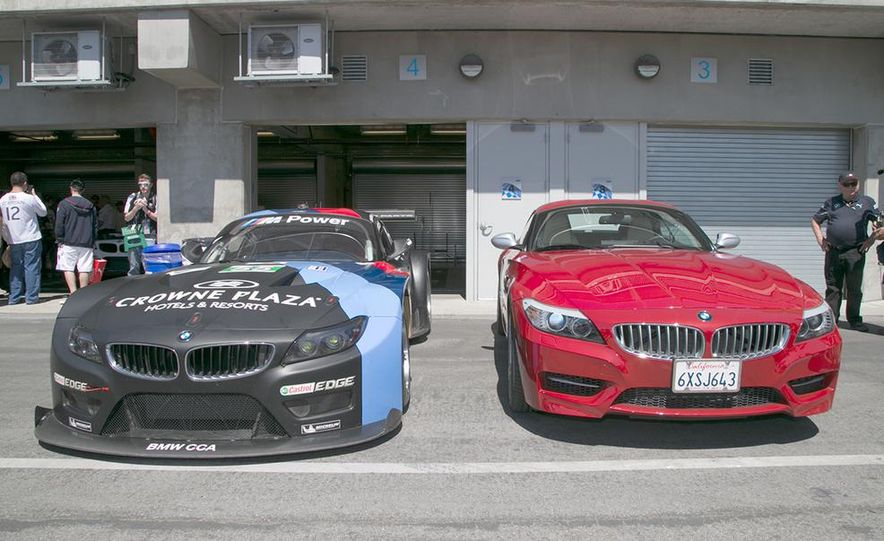 BMW Z4 GTE race car and 2014 Z4 sDrive35is at Mazda Raceway Laguna Seca - Slide 2