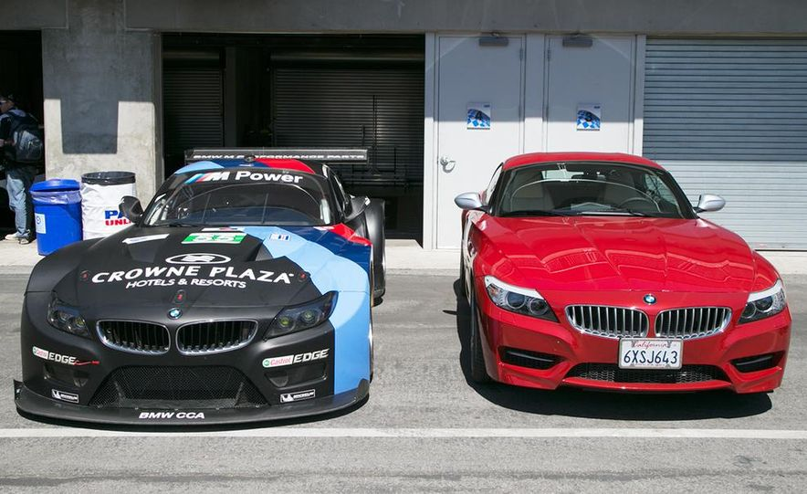 BMW Z4 GTE race car and 2014 Z4 sDrive35is at Mazda Raceway Laguna Seca - Slide 4