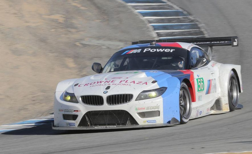 BMW Z4 GTE race car and 2014 Z4 sDrive35is at Mazda Raceway Laguna Seca - Slide 7
