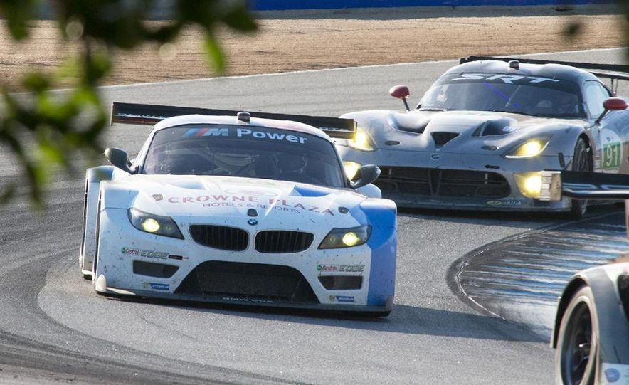 BMW Z4 GTE race car and 2014 Z4 sDrive35is at Mazda Raceway Laguna Seca - Slide 8