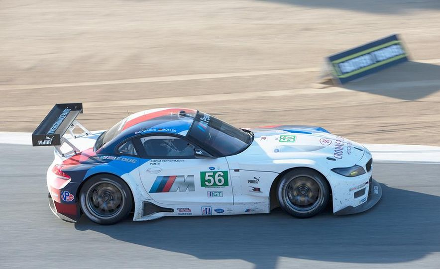 BMW Z4 GTE race car and 2014 Z4 sDrive35is at Mazda Raceway Laguna Seca - Slide 9