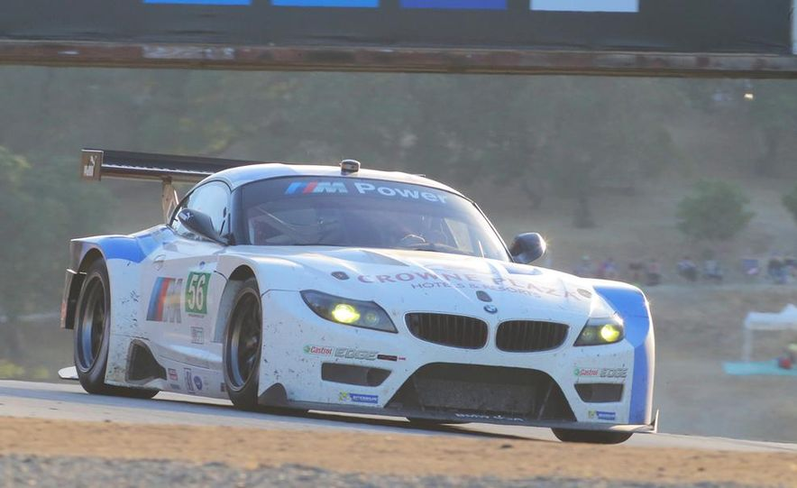 BMW Z4 GTE race car and 2014 Z4 sDrive35is at Mazda Raceway Laguna Seca - Slide 10