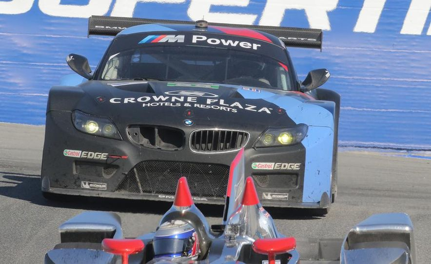 BMW Z4 GTE race car and 2014 Z4 sDrive35is at Mazda Raceway Laguna Seca - Slide 11