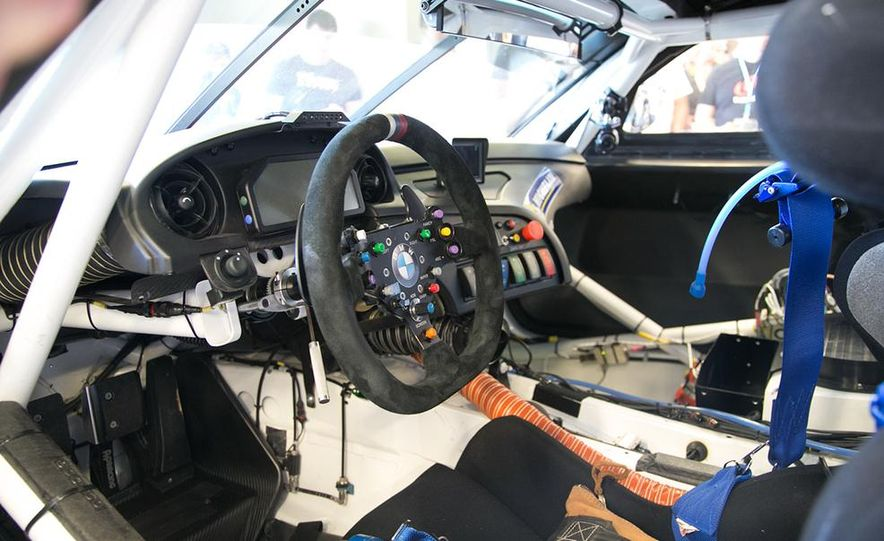 BMW Z4 GTE race car and 2014 Z4 sDrive35is at Mazda Raceway Laguna Seca - Slide 13