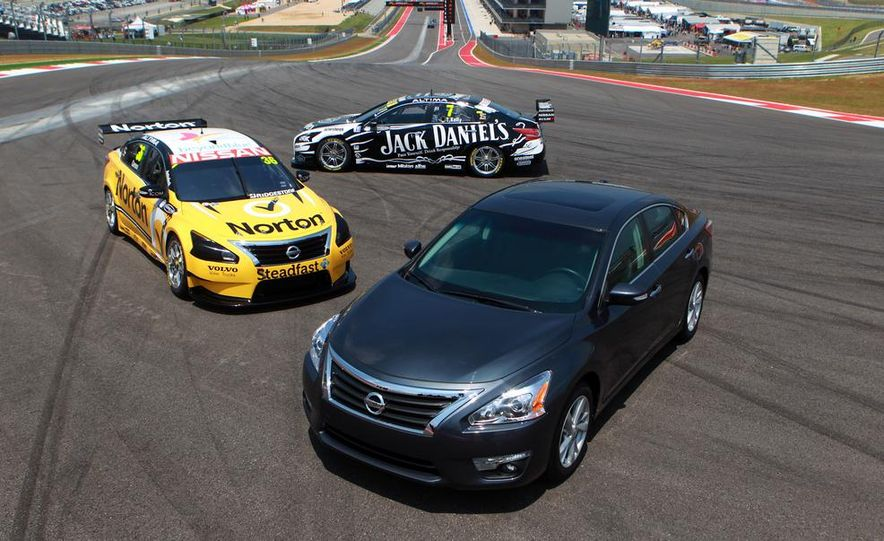 2013 Nissan Altima sedan and race cars at the Circuit of the Americas - Slide 2