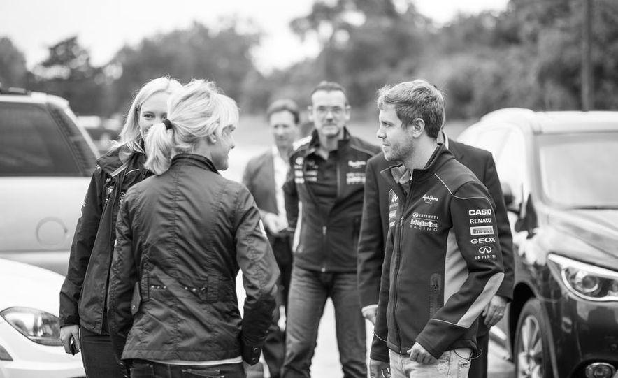 Sebastian Vettel and Christian Horner visit Car and Driver - Slide 1