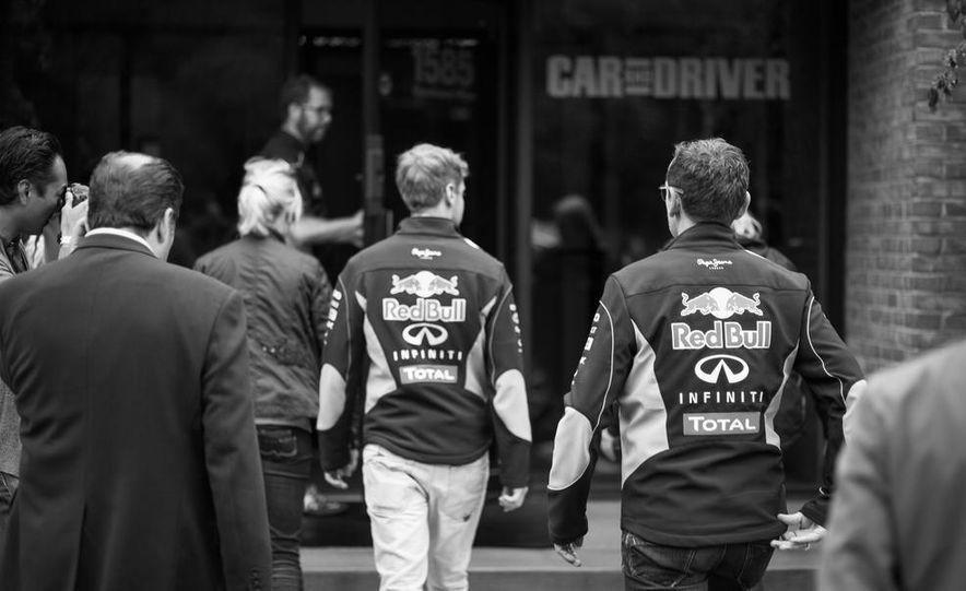Sebastian Vettel and Christian Horner visit Car and Driver - Slide 4