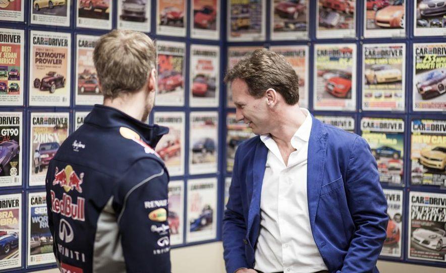 Sebastian Vettel and Christian Horner visit Car and Driver - Slide 6