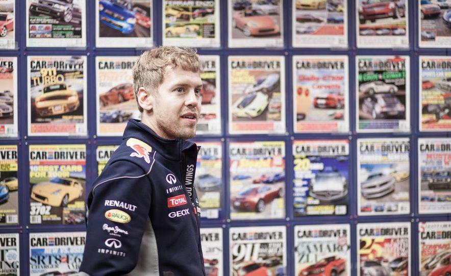 Sebastian Vettel and Christian Horner visit Car and Driver - Slide 7