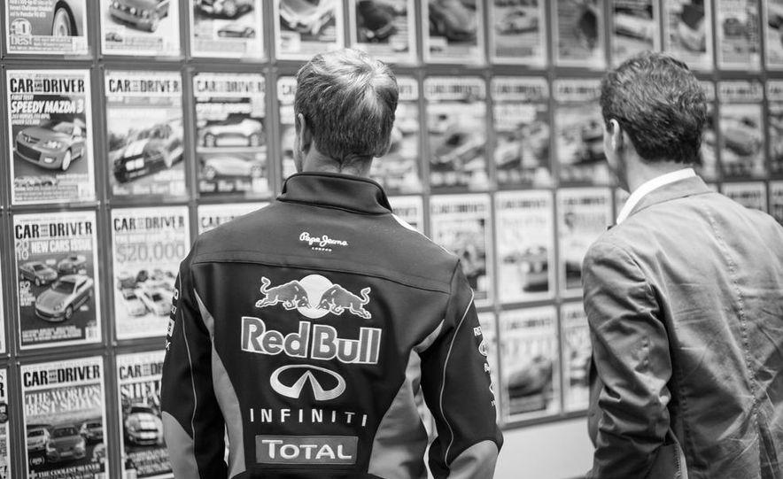 Sebastian Vettel and Christian Horner visit Car and Driver - Slide 8