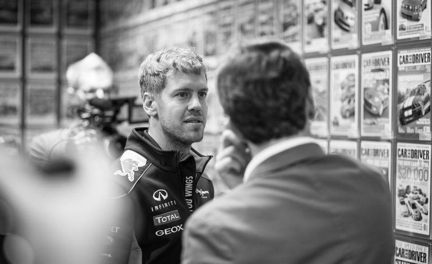 Sebastian Vettel and Christian Horner visit Car and Driver - Slide 9