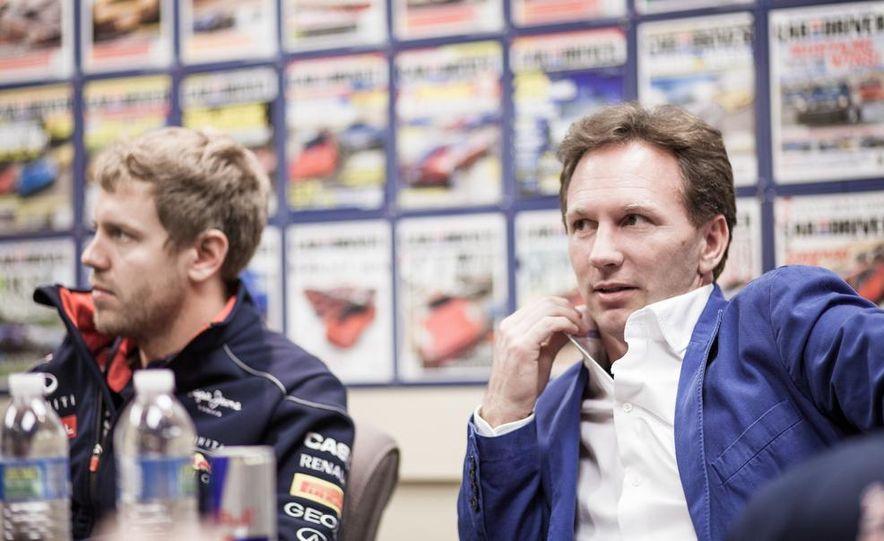 Sebastian Vettel and Christian Horner visit Car and Driver - Slide 10