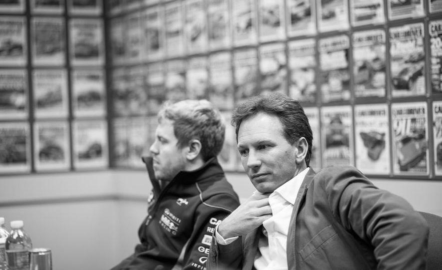 Sebastian Vettel and Christian Horner visit Car and Driver - Slide 12