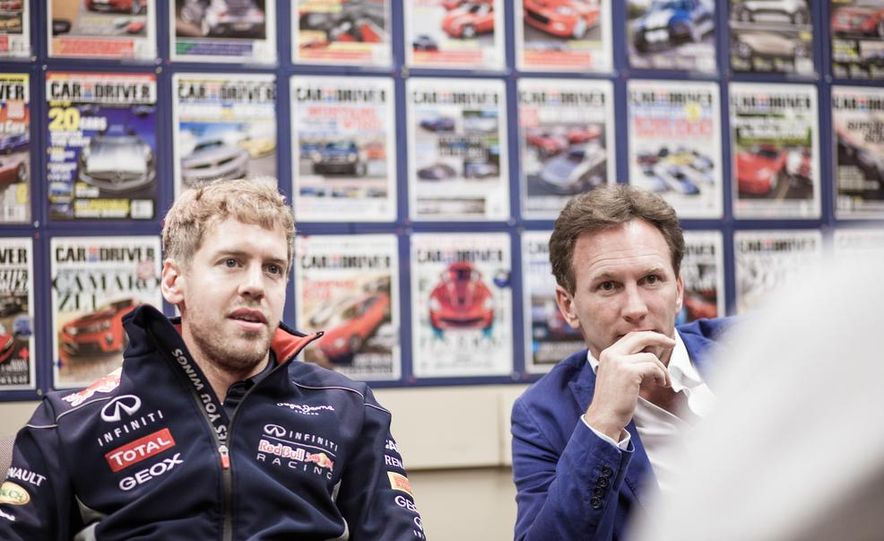 Sebastian Vettel and Christian Horner visit Car and Driver - Slide 13