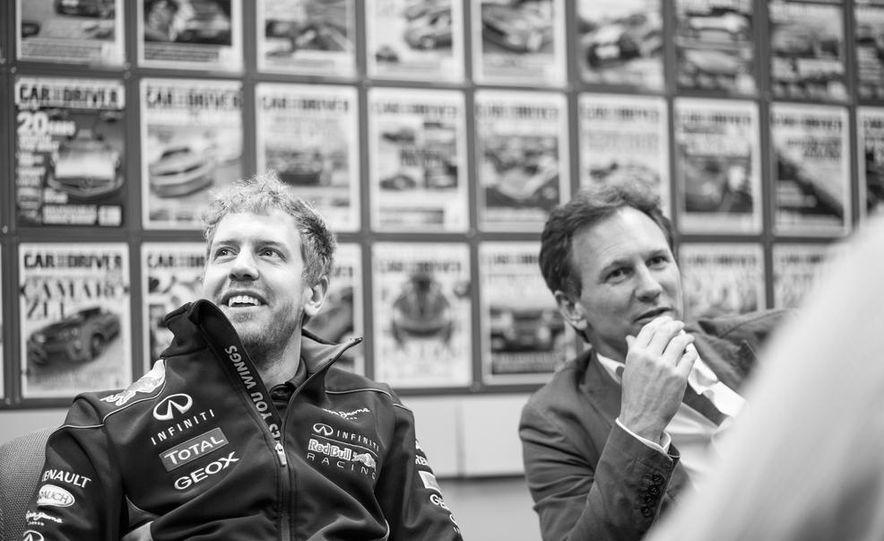 Sebastian Vettel and Christian Horner visit Car and Driver - Slide 14