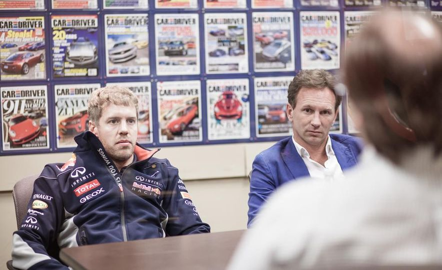 Sebastian Vettel and Christian Horner visit Car and Driver - Slide 16