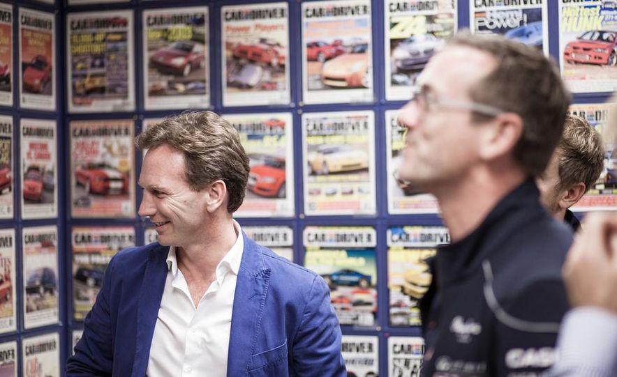 Sebastian Vettel and Christian Horner visit Car and Driver - Slide 18