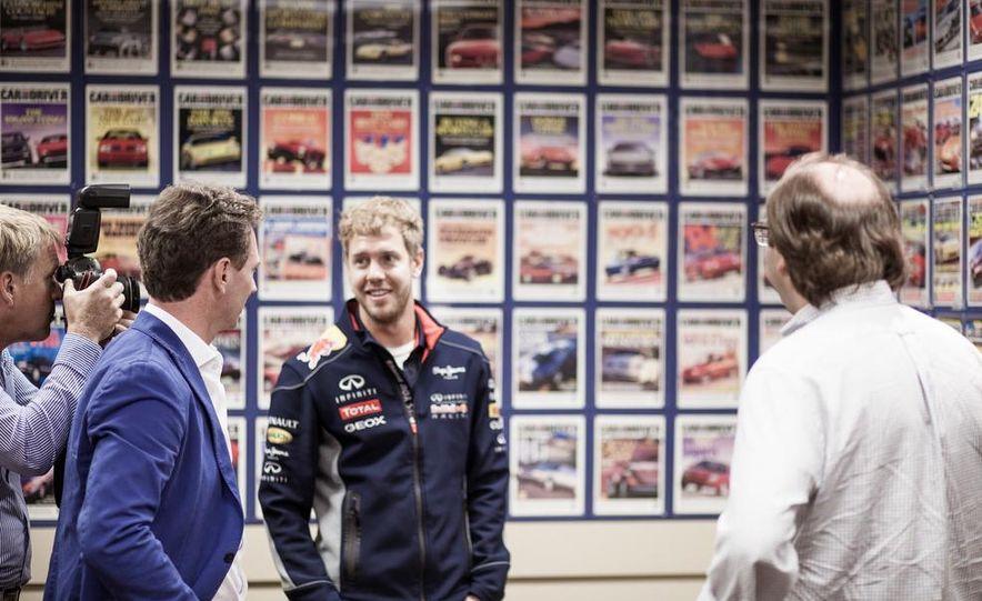 Sebastian Vettel and Christian Horner visit Car and Driver - Slide 20