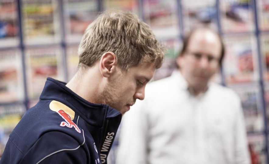 Sebastian Vettel and Christian Horner visit Car and Driver - Slide 21