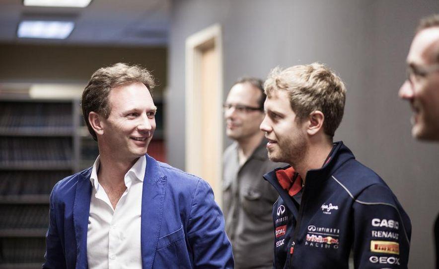 Sebastian Vettel and Christian Horner visit Car and Driver - Slide 22