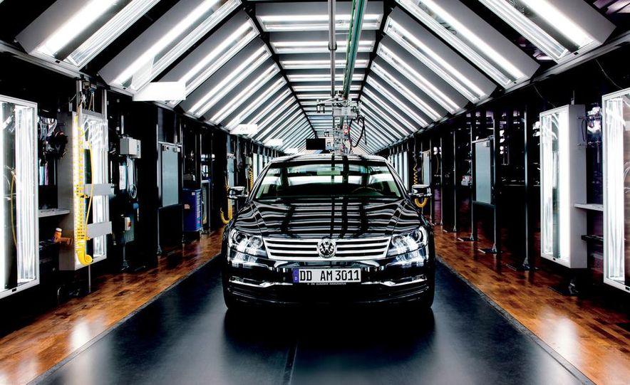 Volkswagen Golf blue-e-motions at the Volkswagen transparent factory, In Dresden, Germany. - Slide 3