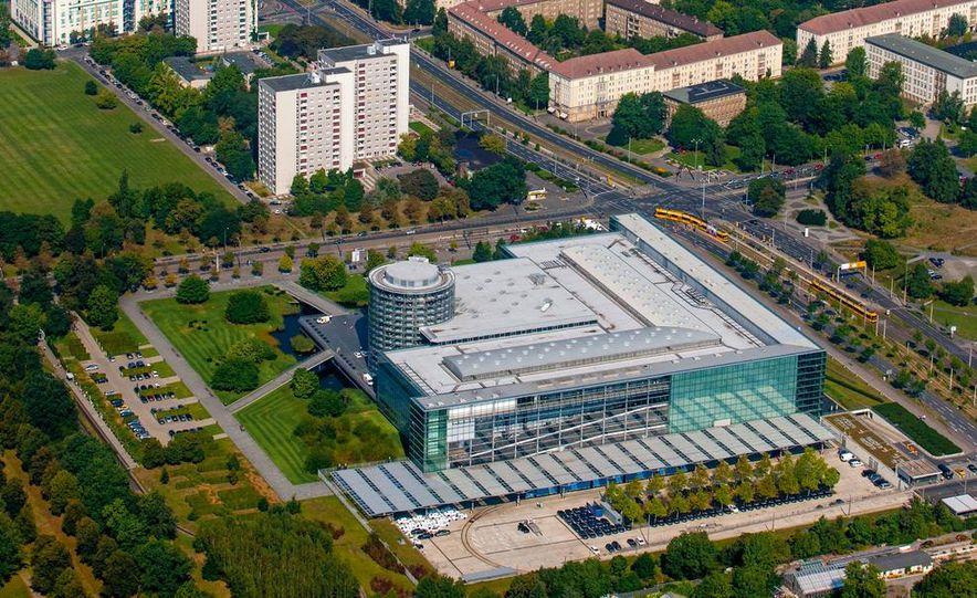 Volkswagen Golf blue-e-motions at the Volkswagen transparent factory, In Dresden, Germany. - Slide 9