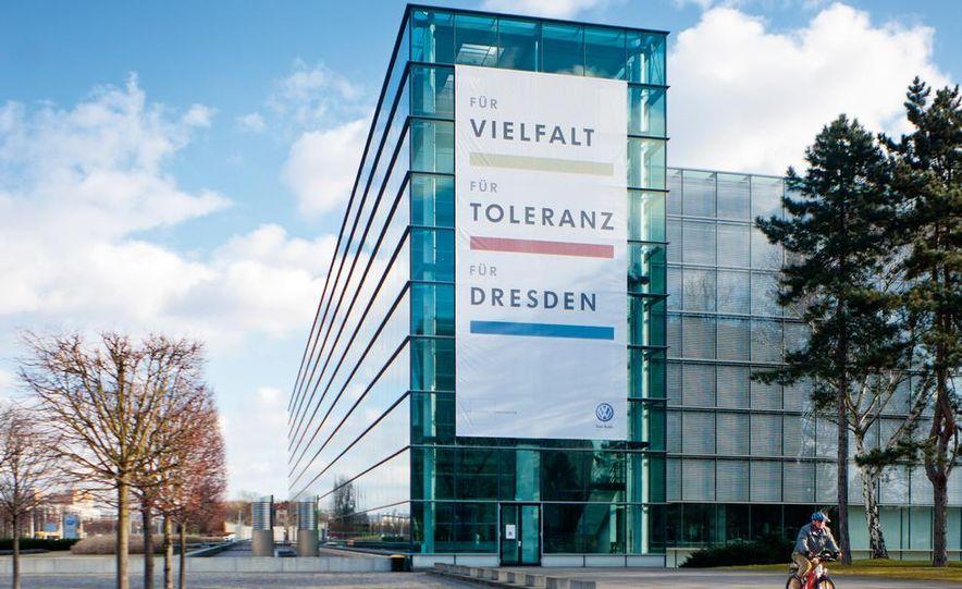 Volkswagen Golf blue-e-motions at the Volkswagen transparent factory, In Dresden, Germany. - Slide 14