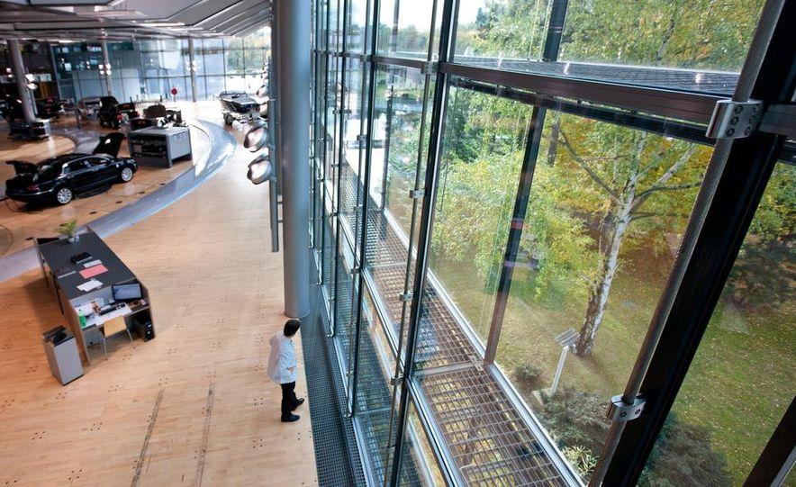 Volkswagen Golf blue-e-motions at the Volkswagen transparent factory, In Dresden, Germany. - Slide 18
