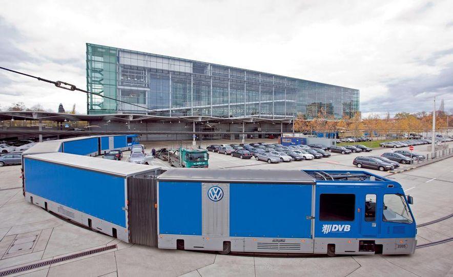 Volkswagen Golf blue-e-motions at the Volkswagen transparent factory, In Dresden, Germany. - Slide 19