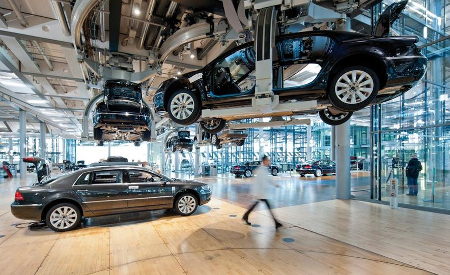 Volkswagen Golf blue-e-motions at the Volkswagen transparent factory, In Dresden, Germany. - Slide 24