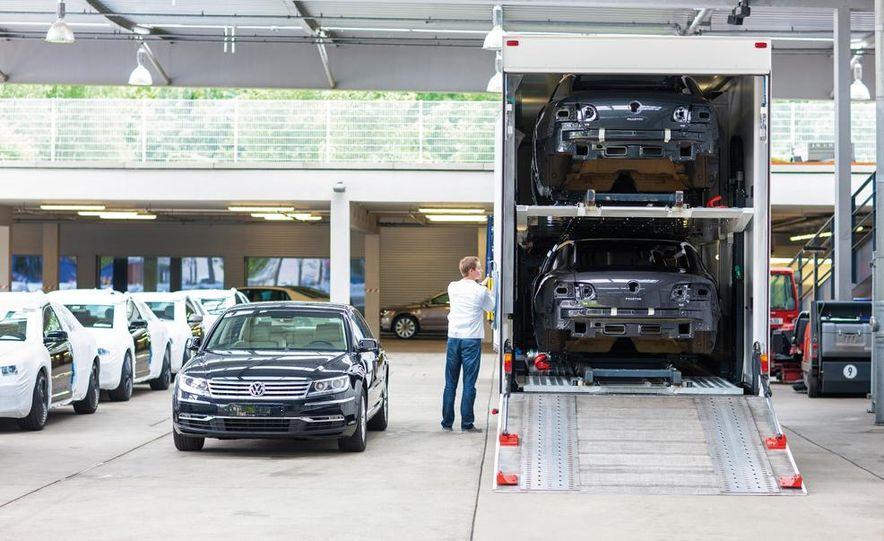 Volkswagen Golf blue-e-motions at the Volkswagen transparent factory, In Dresden, Germany. - Slide 28