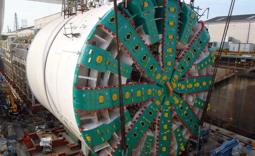 Last day above ground for Bertha's cutterhead - Slide 17