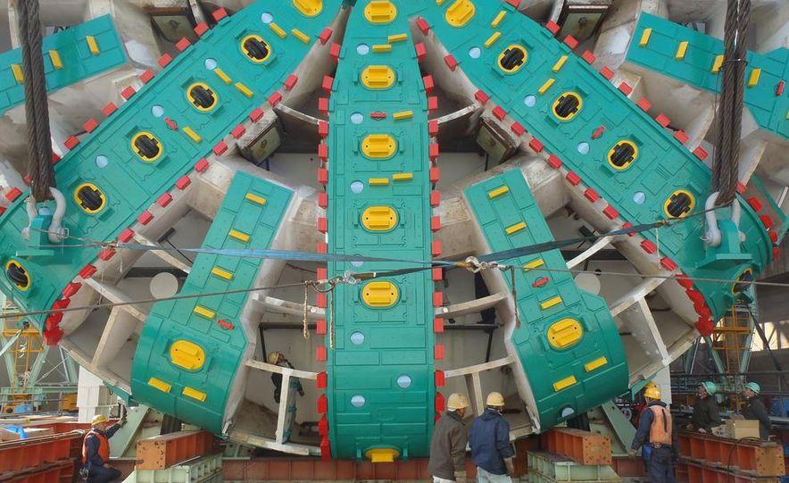 Last day above ground for Bertha's cutterhead - Slide 12
