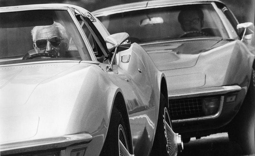 Patrick Bedard and Zora Arkus-Duntov with the 1971 Chevrolet Corvettes - Slide 1
