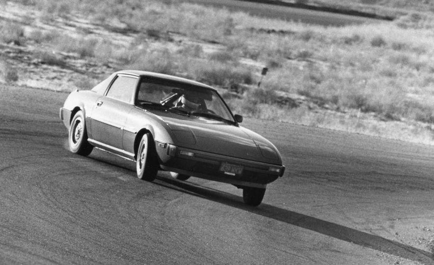 Mazda RX-7, Porsche 924, Chevy Corvette, Fiat Spider 2000, Datsun 280-ZX,  and Alfa Romeo Spider - Slide 15