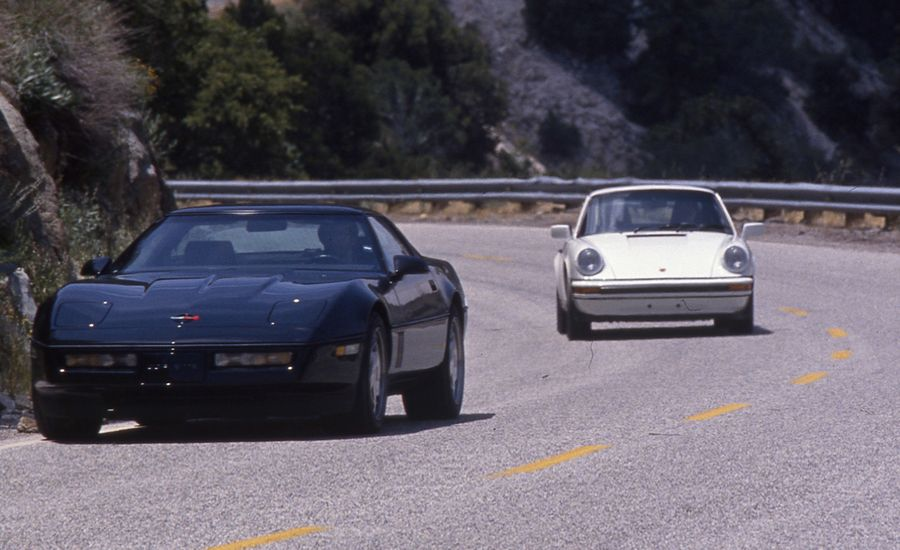 1989 Chevrolet Corvette Z51 vs. Porsche 911
