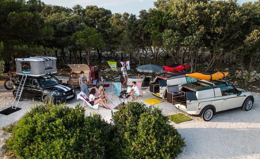 MINI Countryman ALL4 Camp concept, MINI Cowley concept trailer, MINI Clubvan Camper concepts - Slide 1