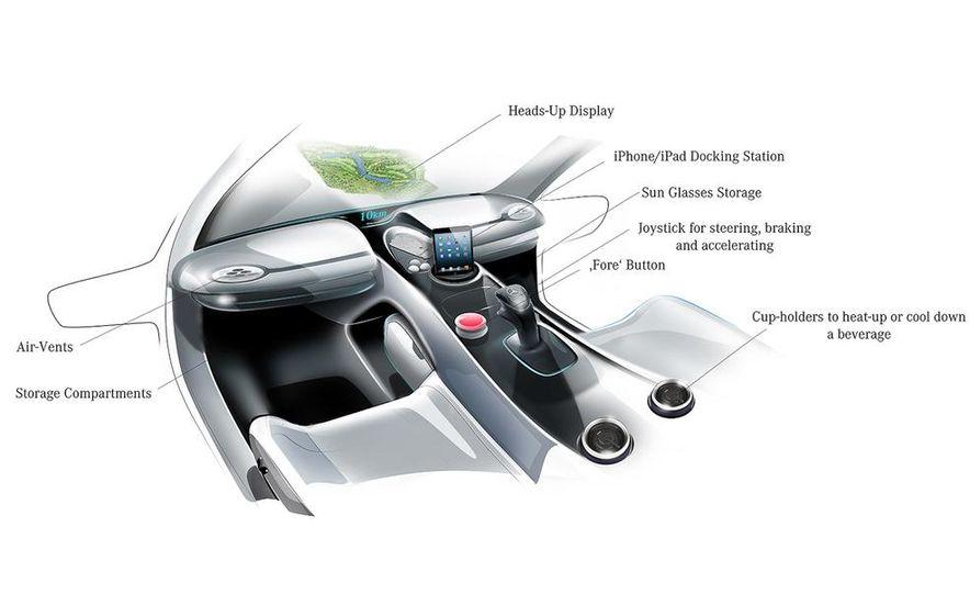 Mercedes-Benz Vision Golf Cart concept (artist's rendering) - Slide 10