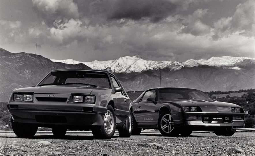 Ford Mustang LX 5.0 and Chevrolet Camaro IROC-Z - Slide 1